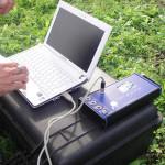 Sensori di rilevamento durante una prova di trazione